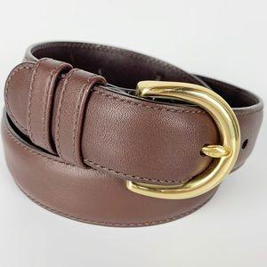 Coach / Brown Classic Genuine Leather Belt 8400